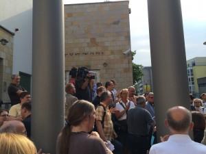 Demonstration nach dem Brandanschlag auf die Barmer Synagoge 29.07.2014