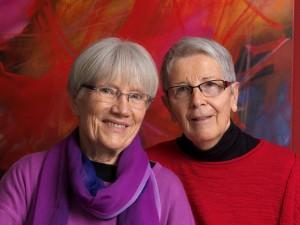 Karin (r.) und Eva (lks.)